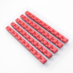 50pcs Red Pb86 Momentary Push Button Tact Switch 6pins Single Led Spdt Pcb Mount