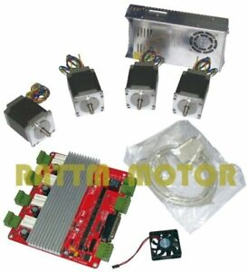 4 Axis Nema23 76mm 270oz in 3 0a Stepper Motor 4v Driver Cnc Controller Kit Mill