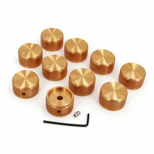 10pcs Solid Aluminum Home Vintage Amplifier Audio Rotary Volume Knob 30 17mm
