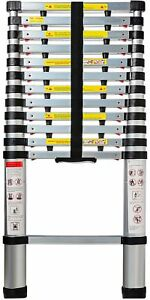 Telescopic Extension Ladder Heavy Duty Giant Aluminum 12 5 Feet Multi Purpose