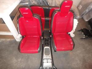 10 15 Chevy Camaro Ss Black Red Front Rear Seats W Console Driver Passenger