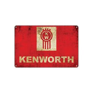 Kenworth Retro Vintage Sign Mechanic Auto Truck Stop Cab Trucker Garage Shop