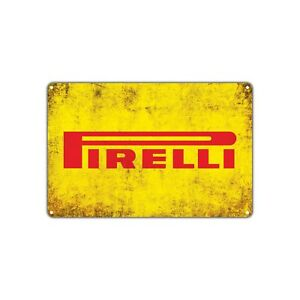 Pirelli Tires Retro Vintage Sign Decor Wall Art Auto Shop Parts Store Garage