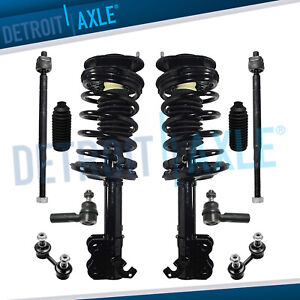Front Struts Inner Outer Tie Rods Kit For 1993 2000 2001 2002 Toyota Corolla