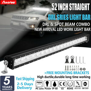 29inch 3360w Led Work Light Bar Quad Row Spot Flood Combo Boat 4x4 Cree 30 32