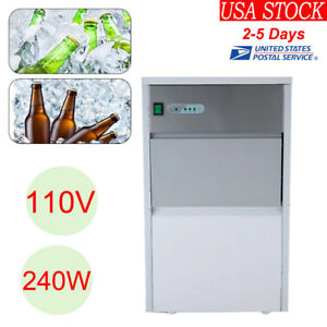 Stainless Steel Built in Ice Cube Machine Undercounter Free standing Ice Maker