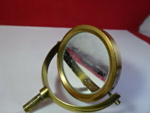 Antique 1880 s Brass Bausch Lomb Mirror Optics Microscope Part As Pictured 95 64