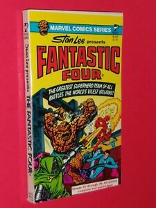FANTASTIC FOUR PAPERBACK Marvel Comic Series Stan Lee Pocket #81445 c.1977 $35.77
