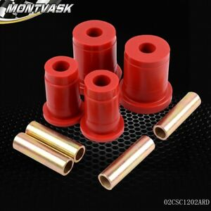 Front Lower Control Arm Bushing Kit Red For 1994 2004 Ford Mustang Non Hydro