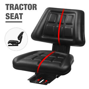 Universal Tractor Seat Backrest Base slide Track Steel pvc Compact Mower Seating