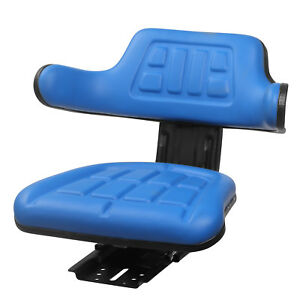 Univeral Tractor Seat Base Slide Track Steel pvc Backrest Armrest Mower Seat