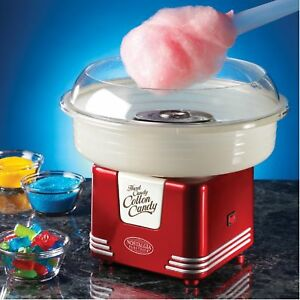 Cotton Candy Maker Machine Electric Red Commercial Hard Candies Vintage Kit