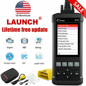 New Car s Abs Srs Airbag System Scan Tool Obdii Scanner Launch Cr619 Code Read