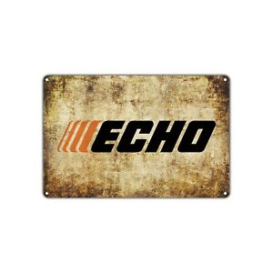 Echo Power Equipment Chainsaw Gas Oil Auto Toolbox Garage Retro Vintage Sign