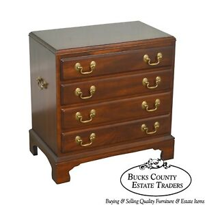 Ethan Allen Georgian Court Collection Small Chippendale Accent Silver Chest