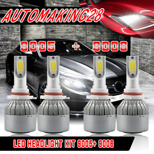 9005 9006 Led Headlight Kit For Honda Accord Coupe Sedan 1995 2007 Hi