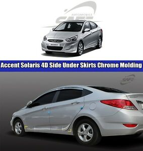 Safe Side Under Skirts Chrome Molding 4pcs For Hyundai Accent Solaris 2011 2016