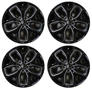 19 Kia Sorento 16 17 18 Factory Oem Rim Insert Wheel 74738 Gloss Black Set