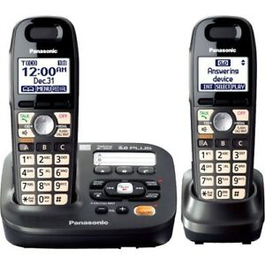 New Panasonic Kx tg6592t Expandable Digital Cordless Answering System With 2