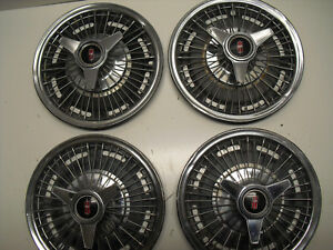 1960 s 1965 1966 Oldsmobile Cutlass Delta F85 Wire Wheel Covers Tri Bar Spinners