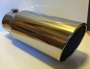 Dodge 304 Polished Stainless Diesel Tip 5 In 6 Out 18 L