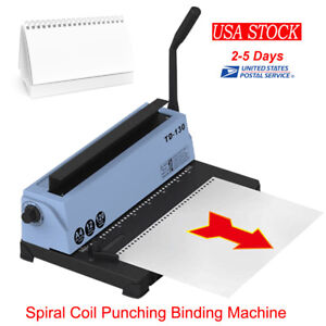 34 Hole Machines Calendar Binding Machine Installed Spiral Coil Punching Machine
