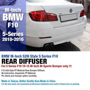 M Tech Style Rear Bumper Guard Molding Diffuser For Bmw 2010 16 5 Series F10