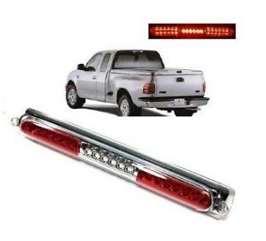 97 03 Ford F150 Full Led Red Clear 3rd Third Brake Stop Light Tail Cargo Lamp