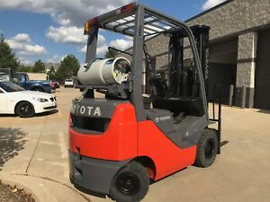2013 Toyota Lpg pneumatic Tire Forklift we Will Ship Use Inside Or Outside l k