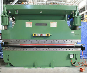 135 Ton 144 Bed Cincinnati 135 cb 10 Press Brake Hurco Autbend 6 Cnc Back Gaug