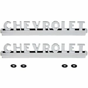 47 48 49 50 51 52 53 Chevy Pickup Truck Hood Emblems Chevrolet Chrome Em1271