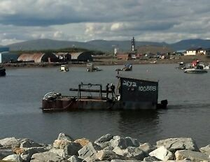40ft X 14ft Steel Barge For Gold Dredge Nome Bering Sea Gold