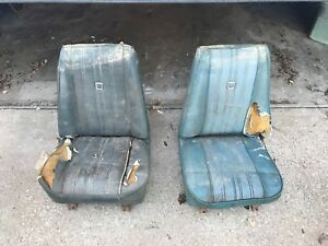 1973 1987 Oem Gm Chevy Gmc Truck Bucket Seat Pair Driver And Passenger Side