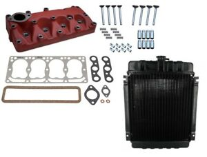 Cylinder Head Kit And Radiator Ih Farmall Cub Loboy 154 184 185 Tractor