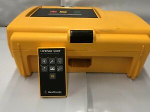 Medtronic Lifepak 500t Aed Training System Defibrillator With Remote