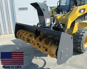 Snow Blower Commercial Skid Steer Mounted 72 Cut High Flow 22 34 Gpm