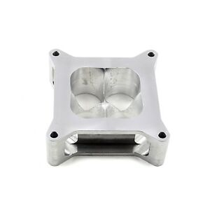 Holley 4150 Cnc Billet Aluminum 2 Silver Square Bore 4 Port Tapered Spacer