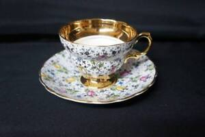 Vintage Rosina Bone China Tea Cup June 4794 And Saucer Made In England
