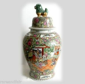 Guangxu Chinese Rose Medallion Large Urn With Lid Ca 1900 Free Shipping