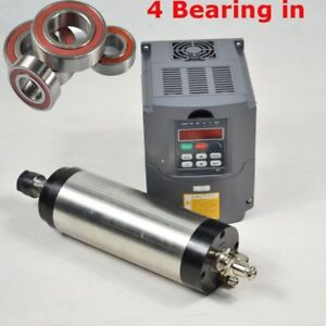 Four Bearing Hq Er20 2 2kw Water Cooled Motor Spindle And Drive Inverter Vfd Cnc