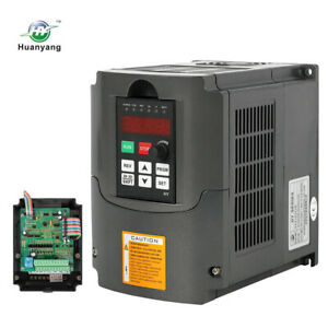 Huan Yang 1 5kw 220v 2hp 7a Variable Frequency Drive Inverter Vfd Cnc