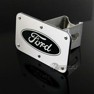 For Ford Logo Chrome Stainless Steel Hitch Cover 2 Trailer Tow Towing Receiver