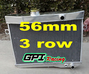 Fit Volvo Amazon P1800 B18 B20 Engine Gt 1959 1970 M t Aluminum Radiator 56mm