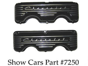 Aluminum Valve Covers 348 409 Chevrolet Impala Ss Black 58 59 60 61 62 63 64 65