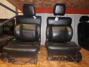 08 10 Ford Ford F150 Front Seat Black Leather Power Oem