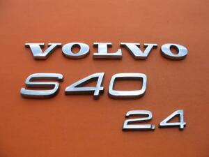 05 06 07 08 09 10 11 Volvo S40 2 4 Rear Lid Chrome Emblem Logo Badge Sign Set 2