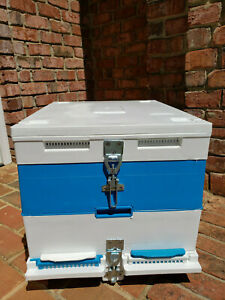 Technosetbee 10 Frame 9 Single Deep Complete Langstroth Hive Top Feeder