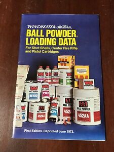 Winchester-Western Ball Powder Loading Data Shot Shell-Rifle-Pistol 1973