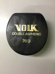 Volk 78d Lens Double Aspheric Perfect Condition Made In Usa