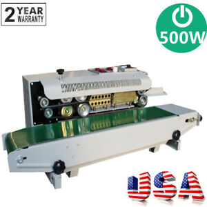 Auto Sealing Machine Horizontal Continuous Plastic Bag Band Sealer Device 500w